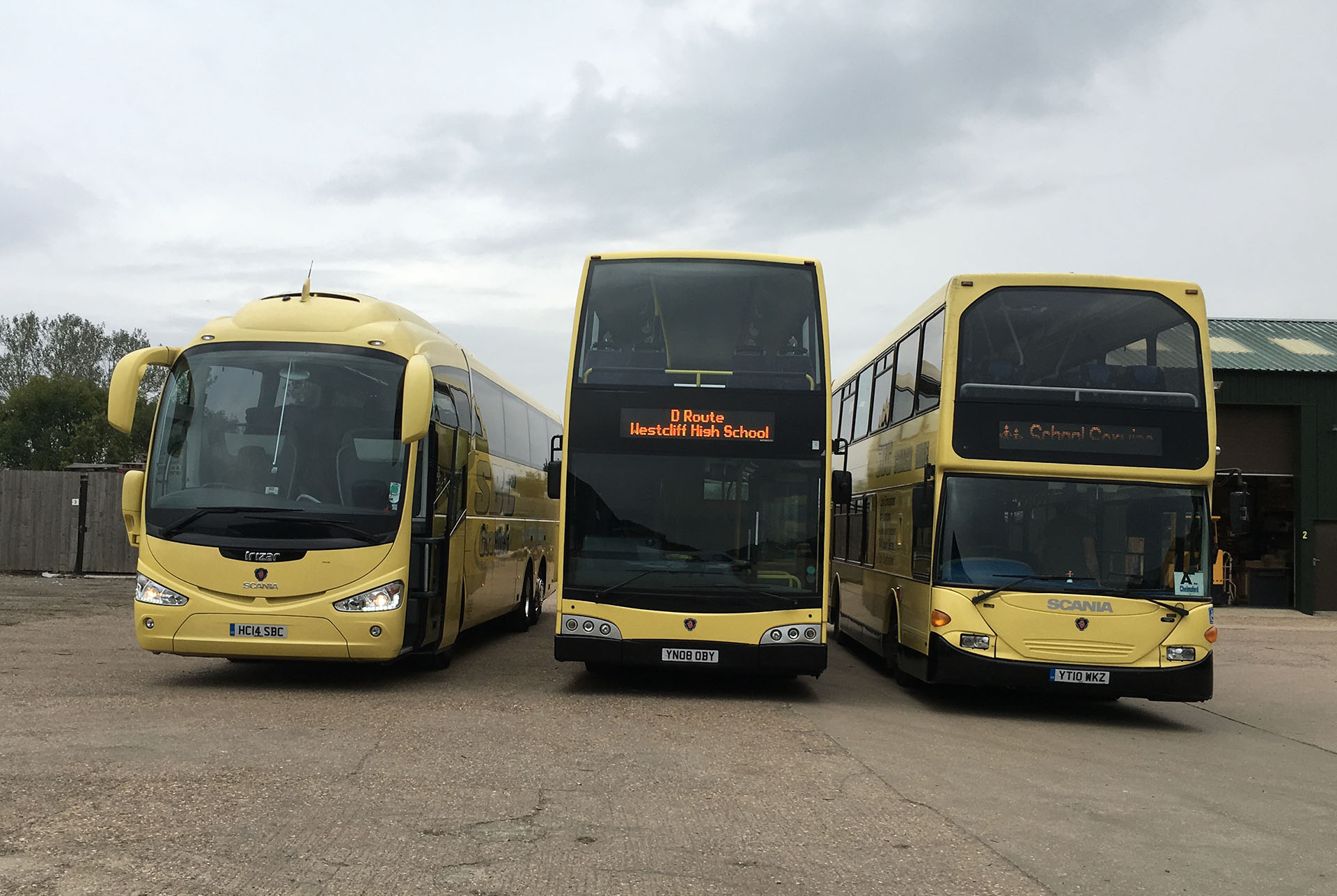 Our fleet of school buses for hire in Essex